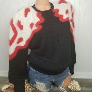 Vintage Sweaters - Vintage 80s Angora sweater Sz Large